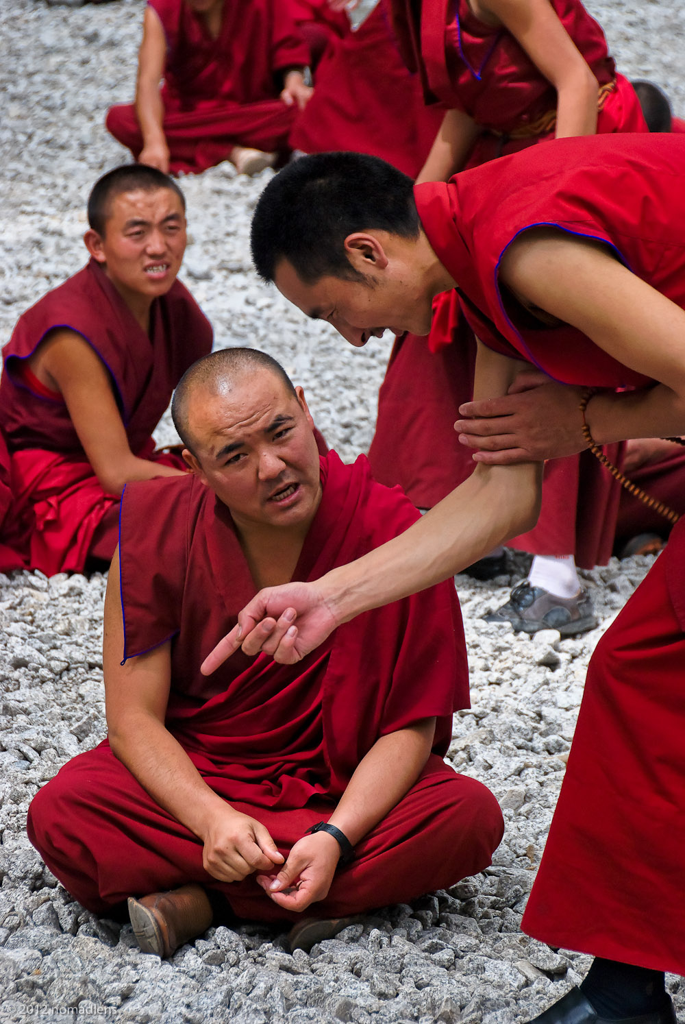 Debating Monks, Sera, U, Tibet