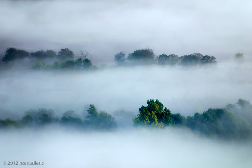 Fog, Tirino Valley, Abruzzo, Italy
