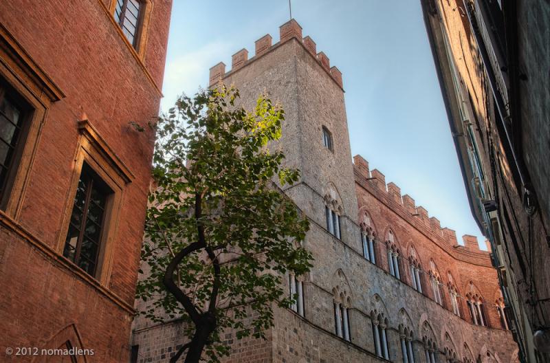 Via de Citta, Siena, Tuscany, Italy