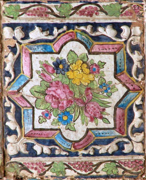 Iranian hand made tile. kermanshah