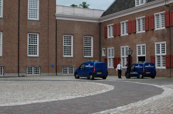 The Netherlands, Zeist, Slot Zeist beveiliging