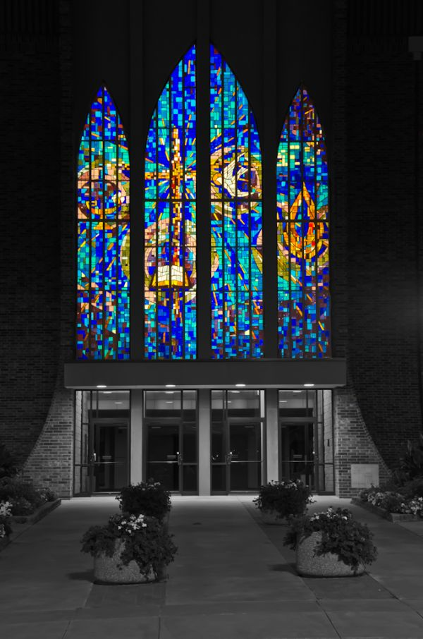 Stain Glass at Evangel
