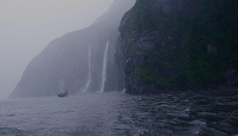 Milford Sound under the rain