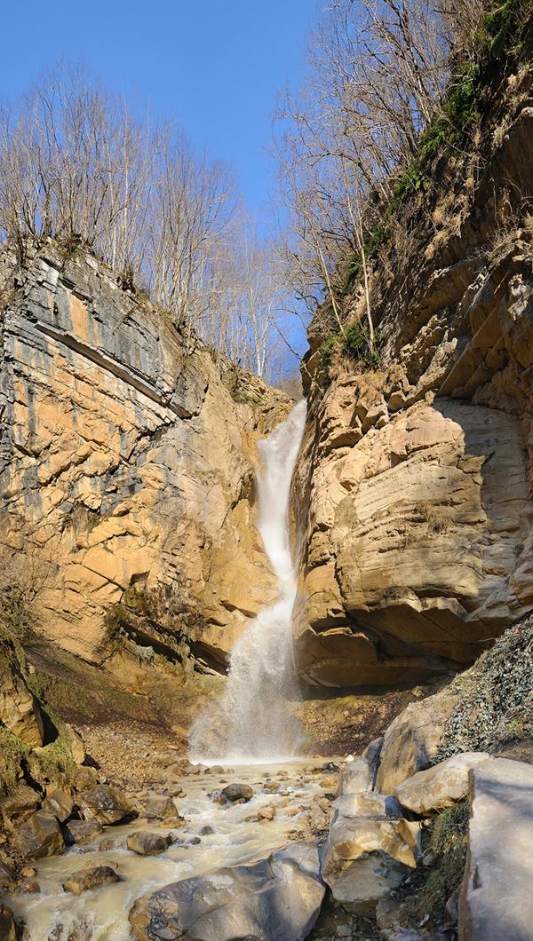 Waterfall in Masouleh - Panorama