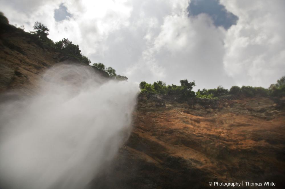 The base of Sipi Falls, Mt Elgon.