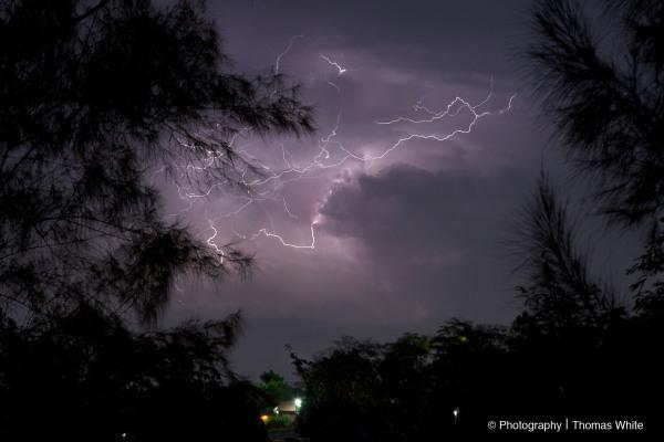 Lightning storm in Lweza.