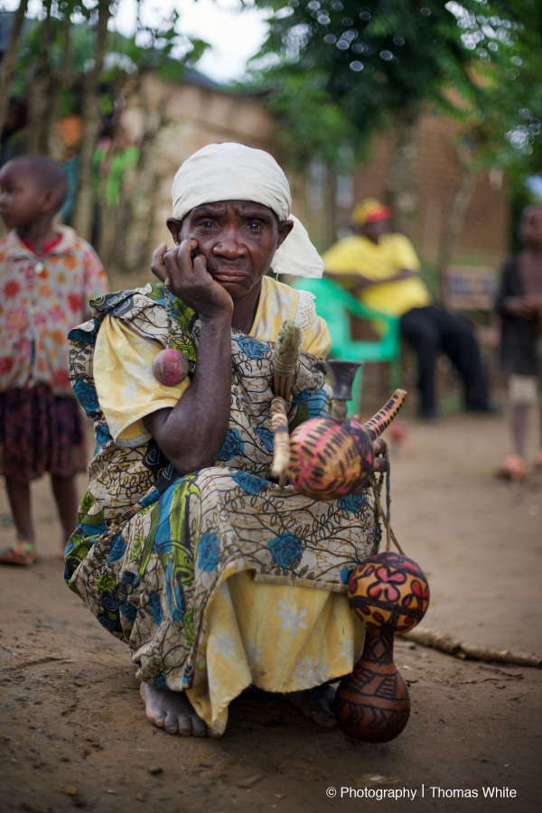 Elderly Pygmy Woman. Batwa.