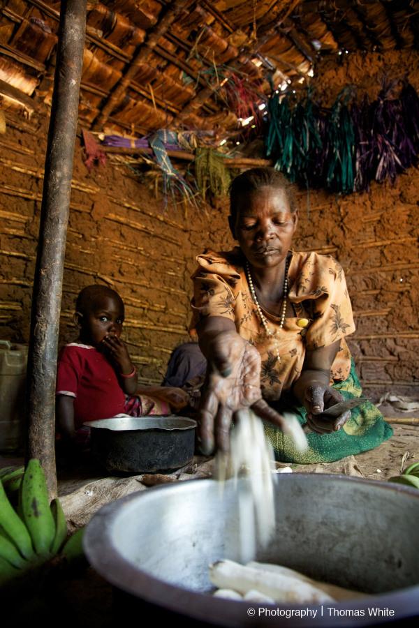 Kampangi, Rakai XXVII - Gertrude Preparing Cassava