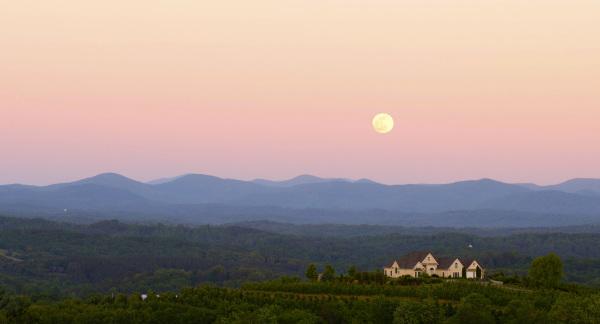 Moon & blue ridge valley