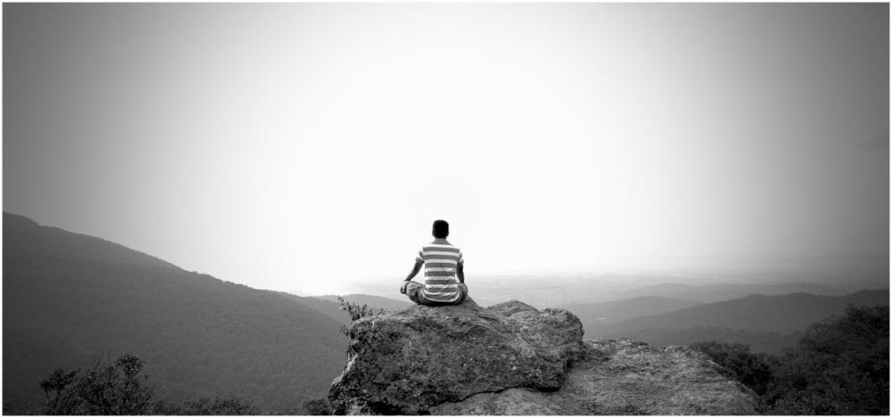 Meditation on the peak of Crest Rock