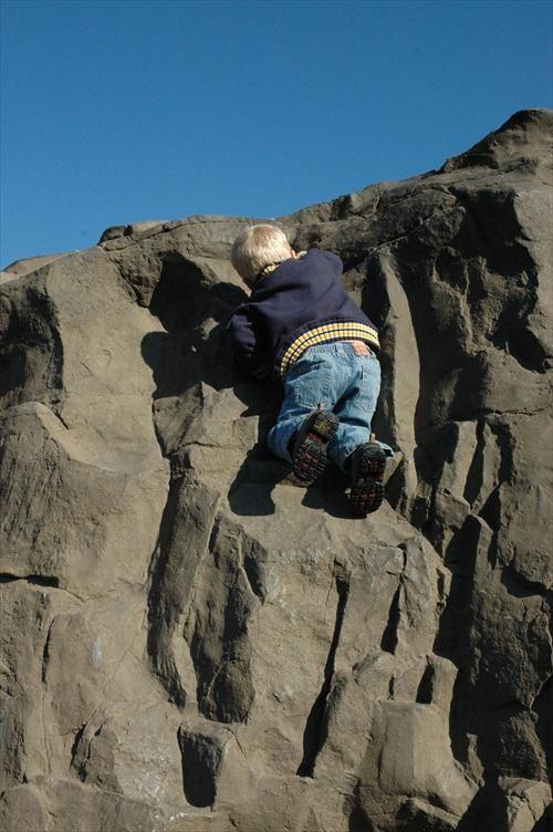 rock climbing child
