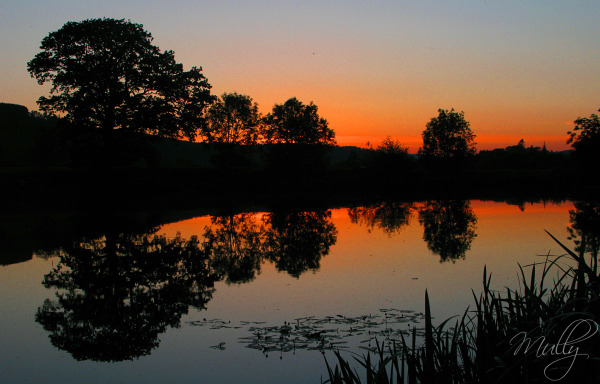 sunset wales reflections.