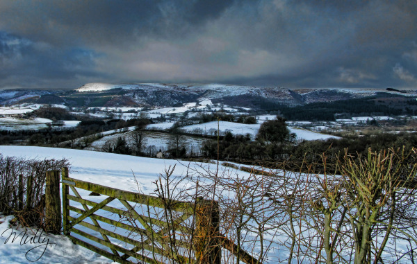 Snow landscape South Wales