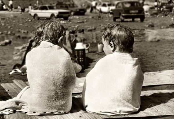 1970's shot on the beach