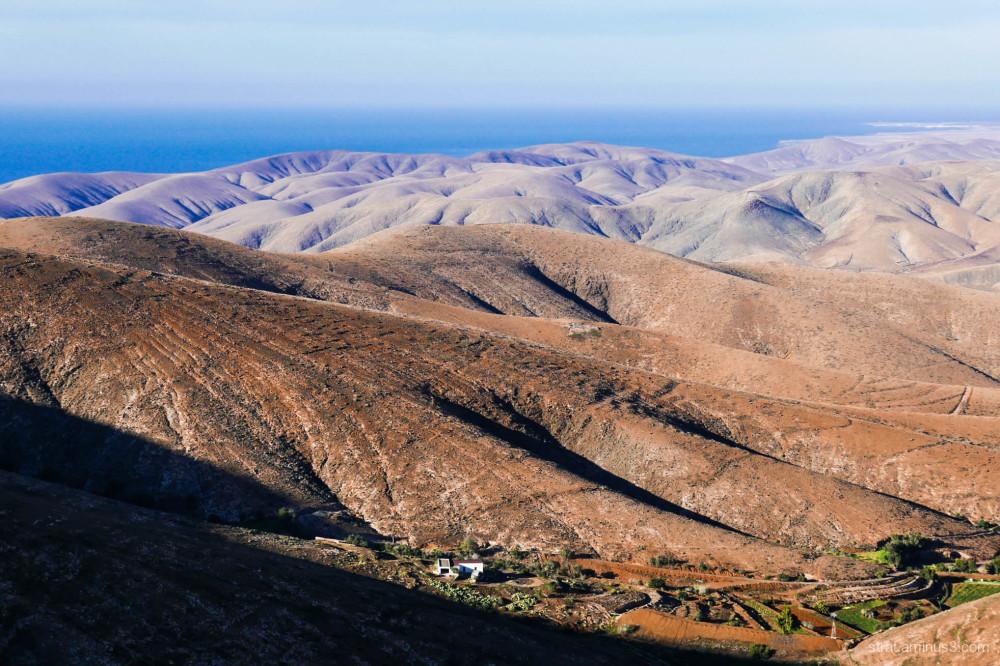 Paysage typique de Fuerteventura (Canaries)