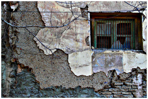 the wrecked window