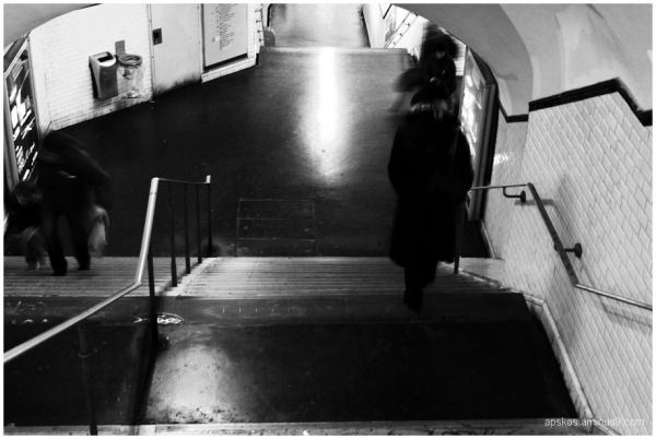 Paris, métro 23h55.