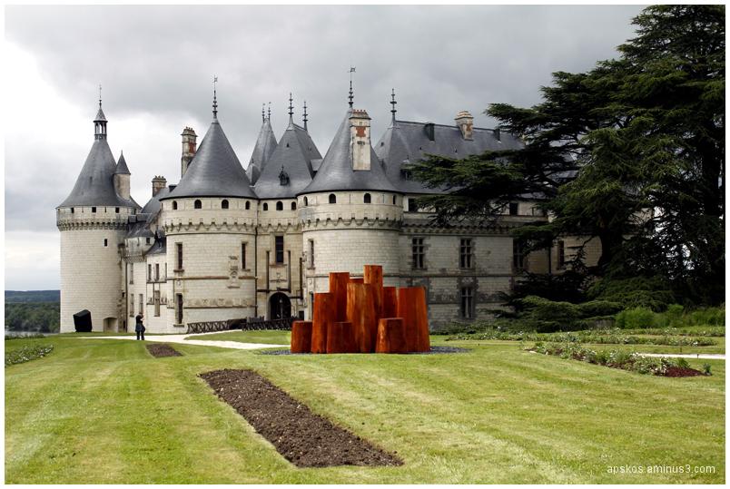 David Nash au château de Chaumont sur Loire.
