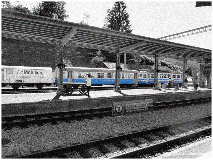 Le train bleu.