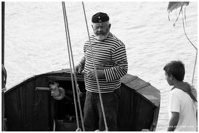 Le capitaine et son moussaillon...