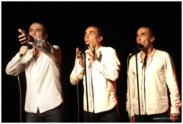 Olivet, Laurent Viel sur scène.