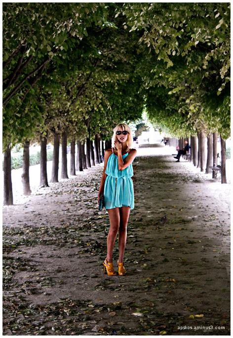 Du bleu sous les arbres...