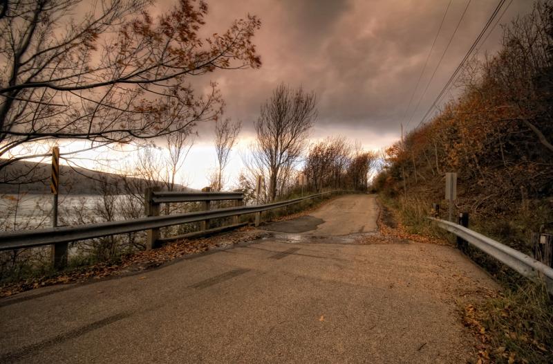 A shore road.