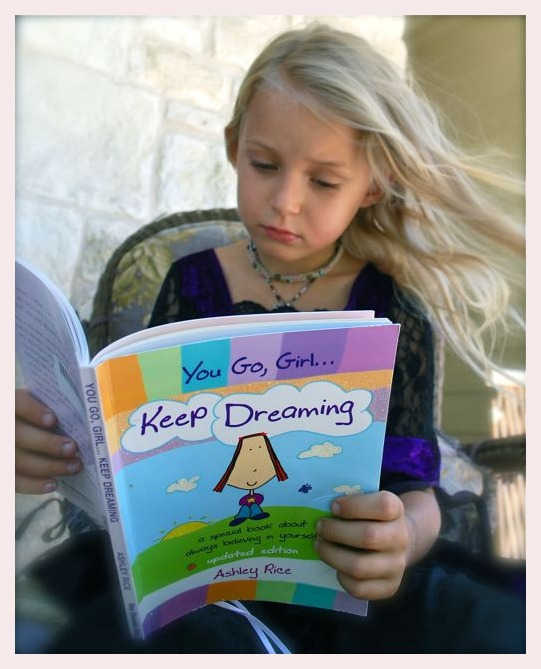 Coral reading 'You Go Girl, Keep Dreaming' by Ashl