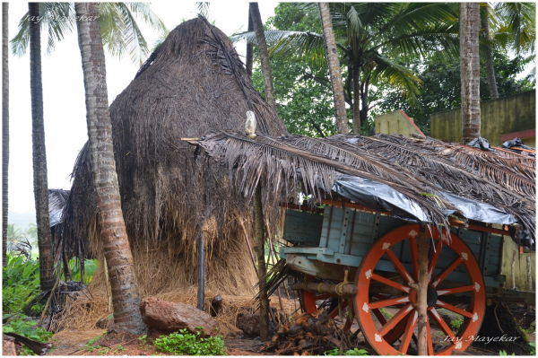 A rural Merc Parked outside the Villa