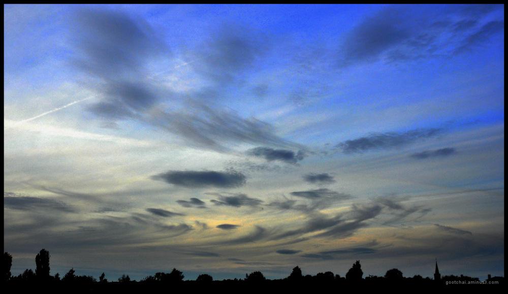Peinture du ciel.