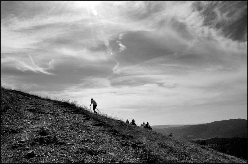 Quand tu arrives en haut de la montagne..........