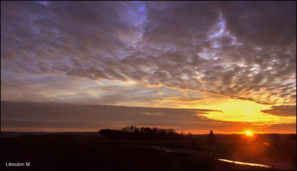 Balade au soleil levant.