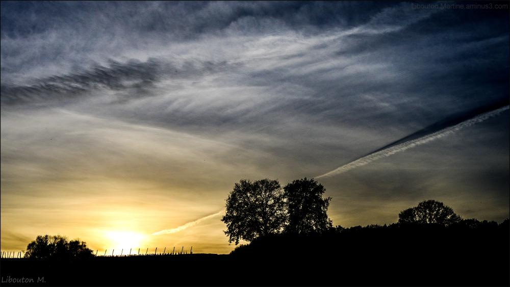 Beauté éphémère du soleil couchant