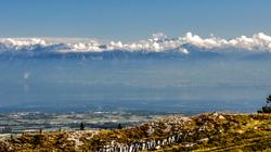 En arrivant au sommet du Mont Tendre