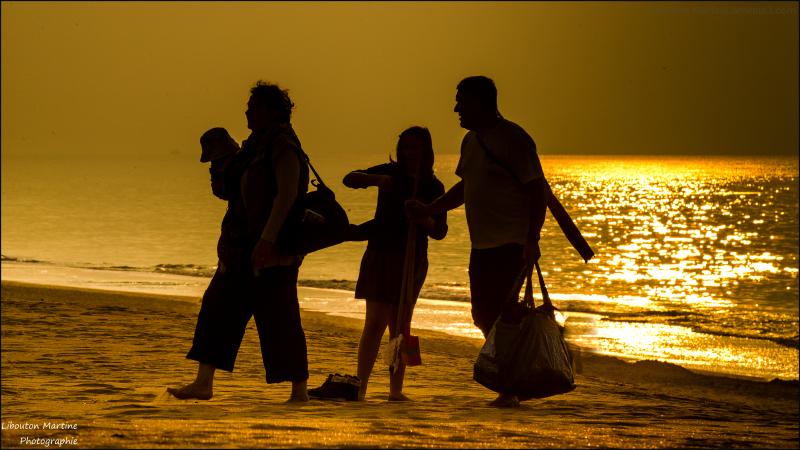 Sortie de plage