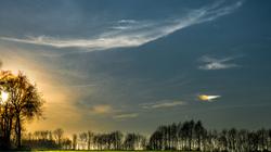 La Campagne aux derniers rayons du soleil