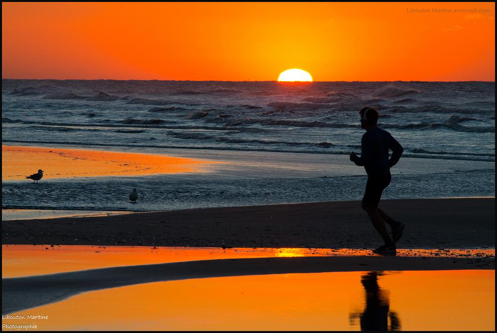 Course avec le soleil