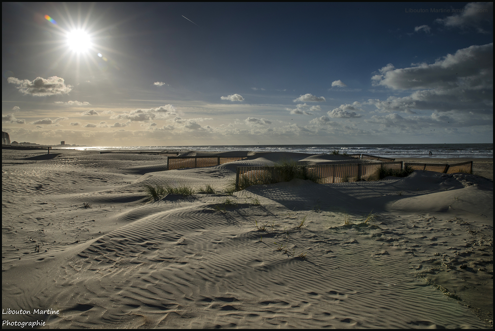 La plage façonnée par le vent !!