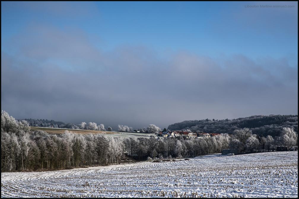 Mon village sous la neige 1