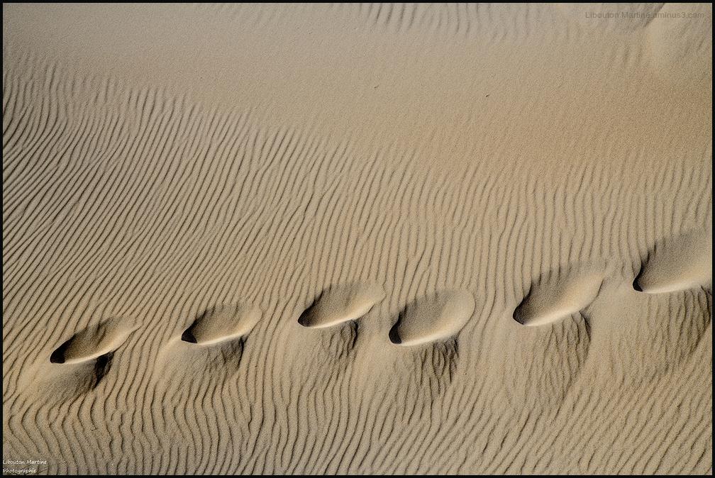 Les pas de sable