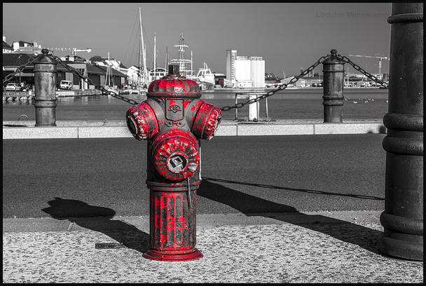 La bouche d'incendie de Saint -Malo