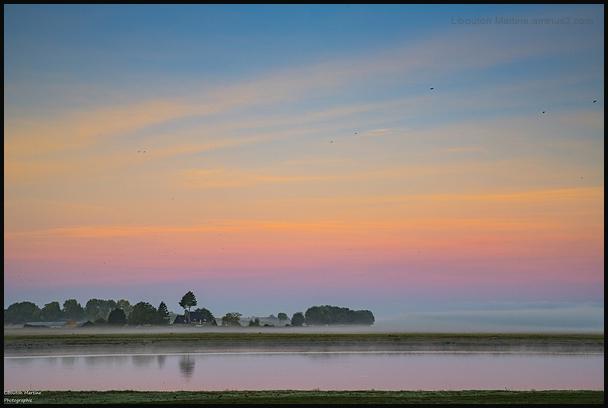 Avant le lever du soleil sur la Sélune