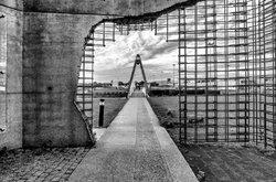 Sur le parking du pont de Normandie !