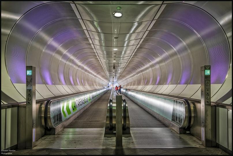 Dans le métro de Rotterdam !