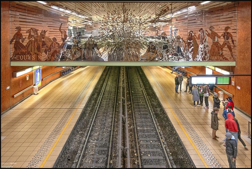 Les rails du métro !