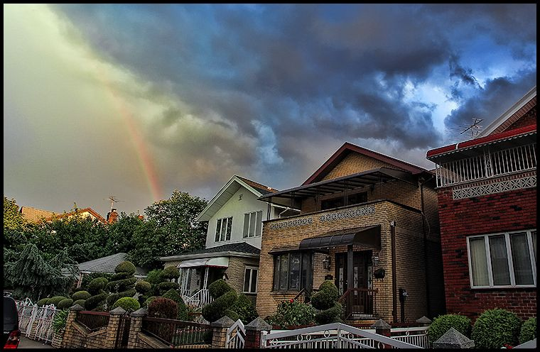 Rare rainbow in Brooklyn