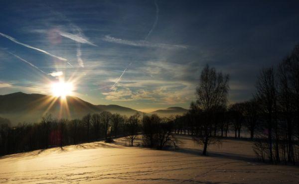 Sunset over spa Libverda