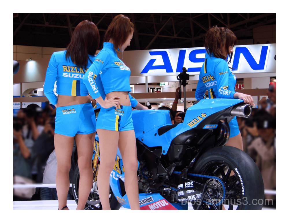 Babes in Blue & the Babes with Bikes !!!