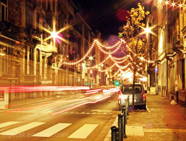 Munthofstraat in night / Bruxelles