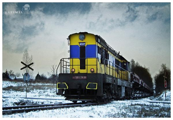 Train with coal.